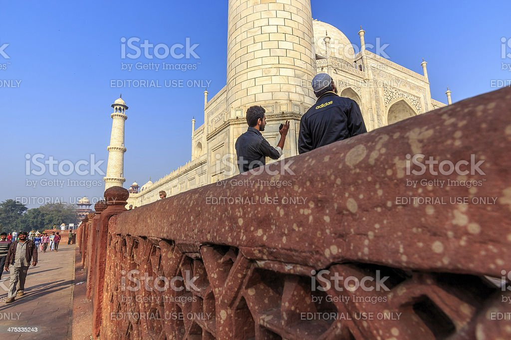 From below the wall royalty-free stock photo