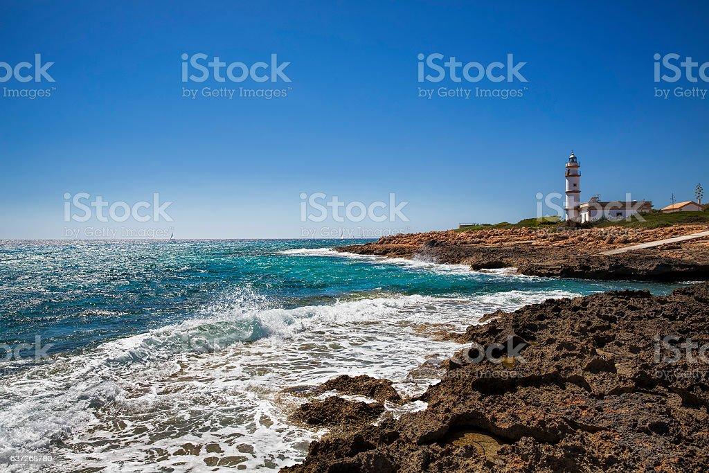 From Cap de ses Salines, Majorca stock photo