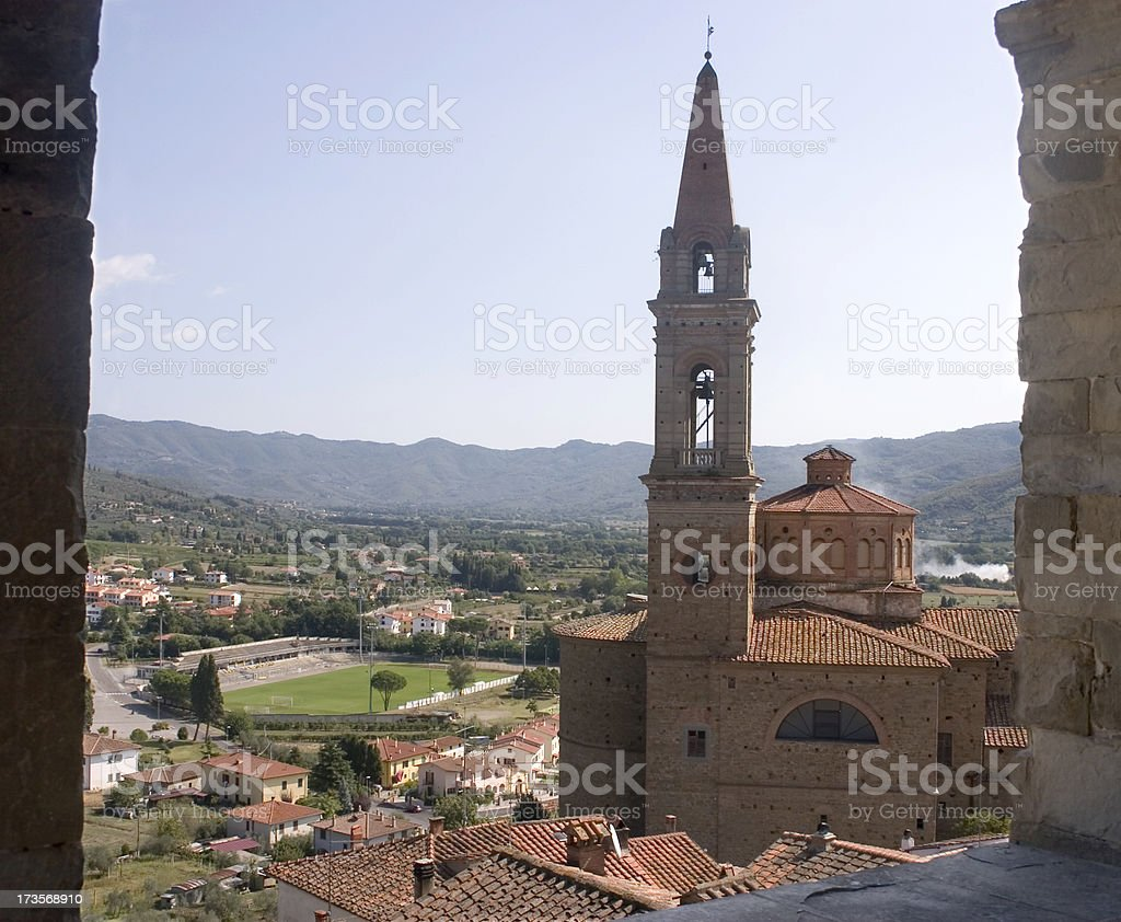From Castiglion Fiorentino Tuscany royalty-free stock photo