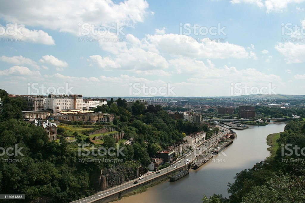 From Clifton Suspension Bridge, Bristol, UK stock photo