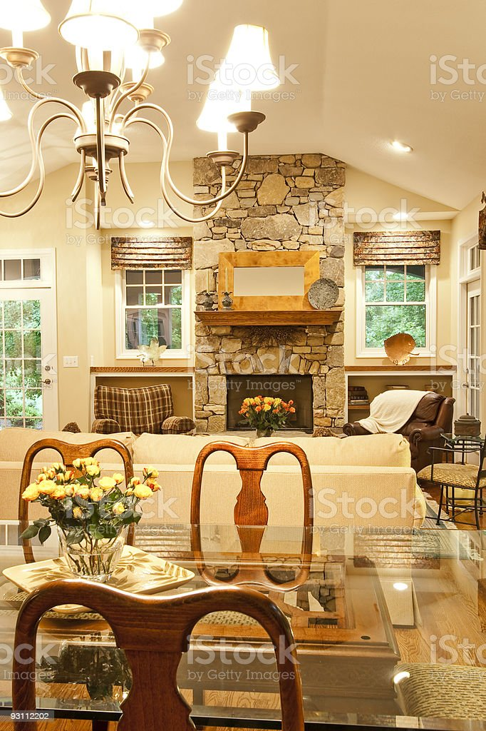 From Dining into Living area royalty-free stock photo