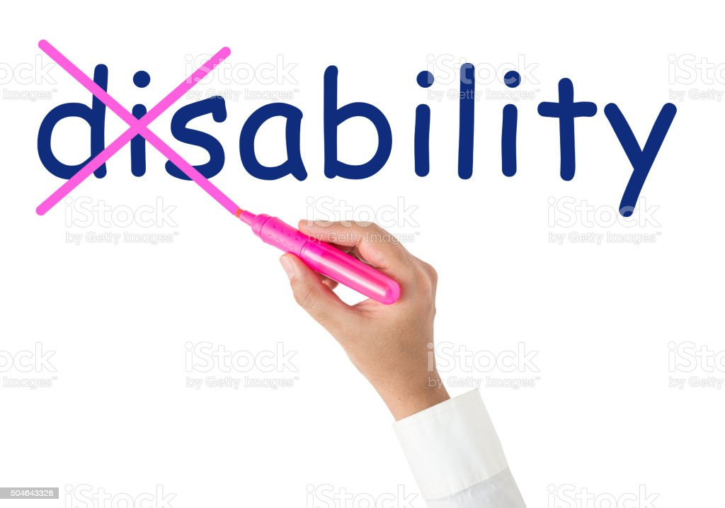 From Disability to the Ability stock photo