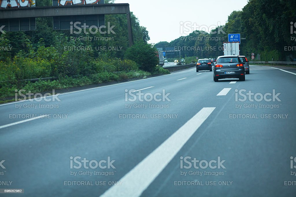 From drive to highway A 40 stock photo