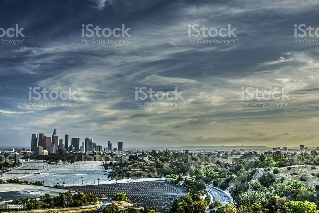 DTLA from Elysian Park stock photo