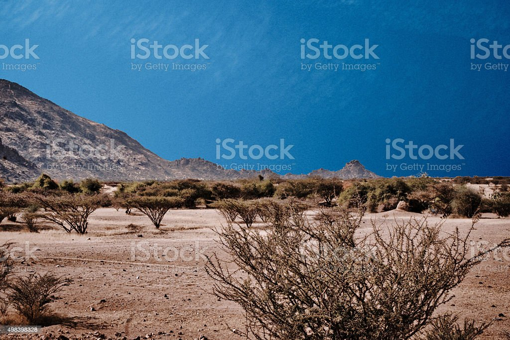 From Ethiopia to Eritrea stock photo