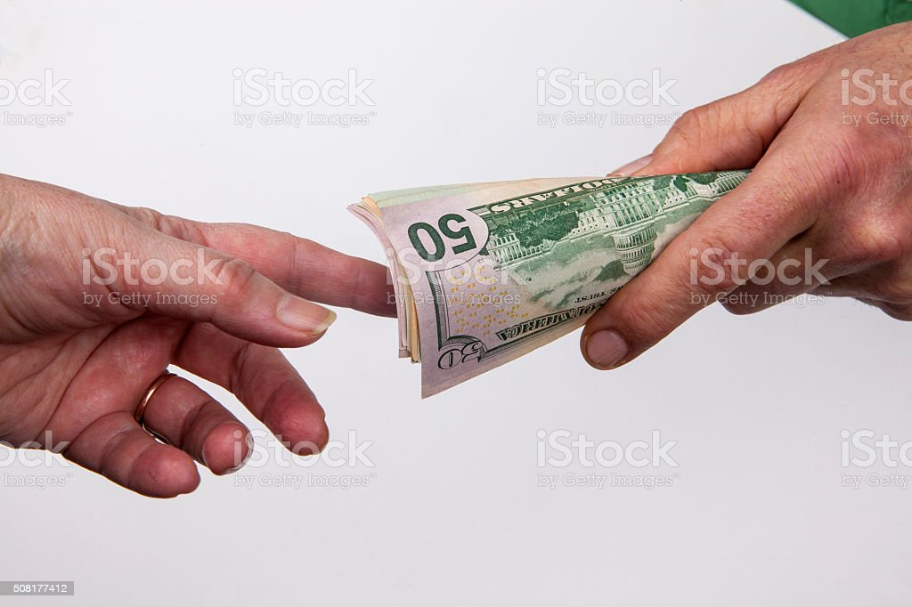 From hand to han stock photo