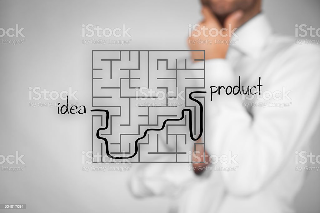 From idea to product stock photo