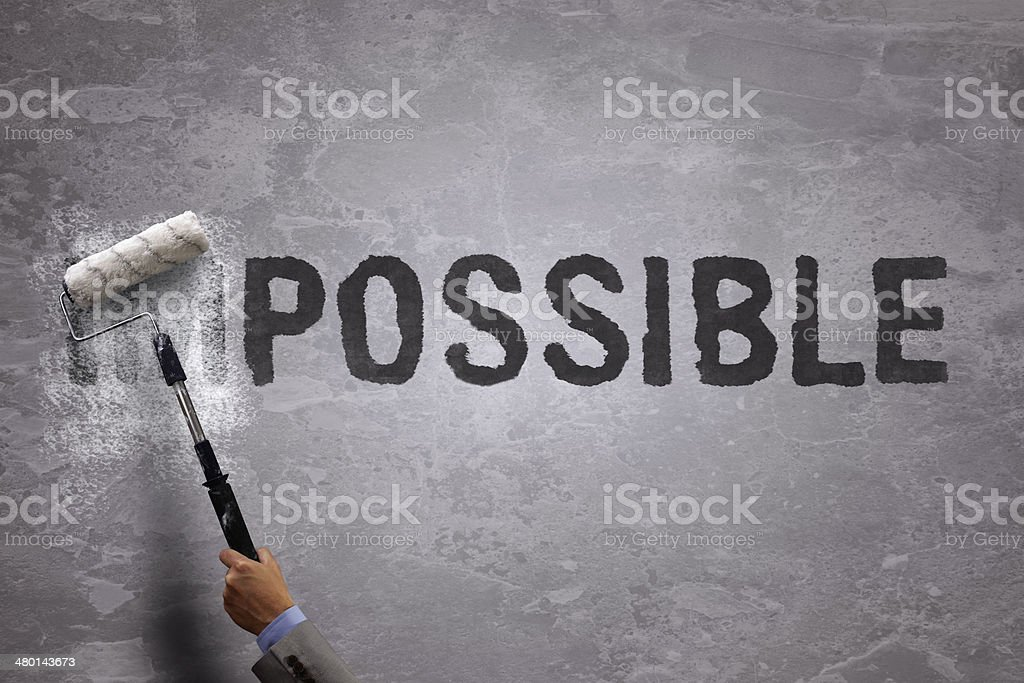 From impossible to the possible stock photo