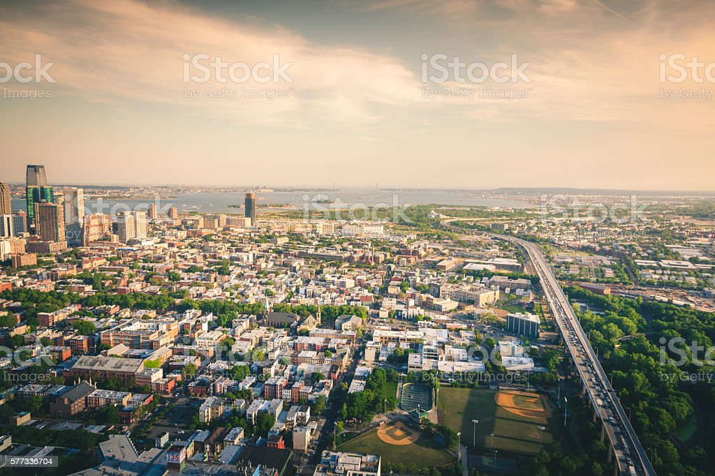 From Jersey City to the Hudson royalty-free stock photo