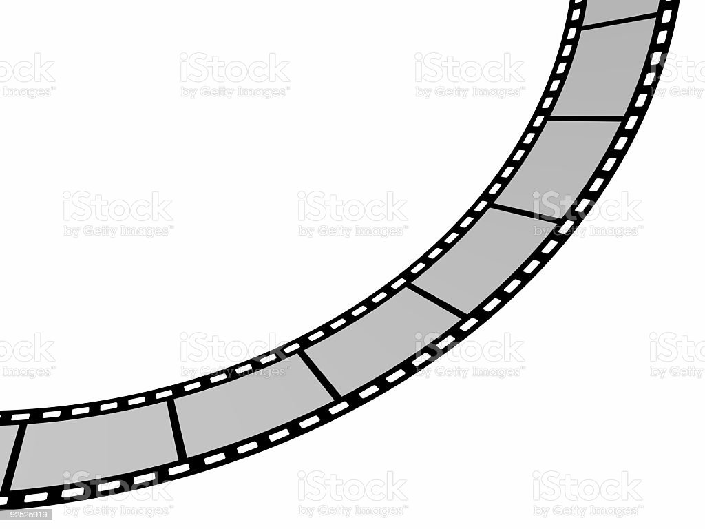 From left to sky (blank filme strip in high resolution) royalty-free stock photo