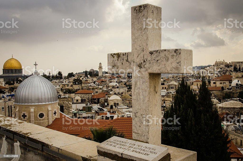From Mount Scopus, Jerusalem, Holy Land stock photo