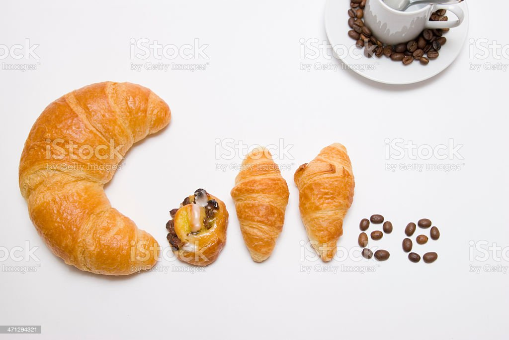 From Pastries to Coffee royalty-free stock photo