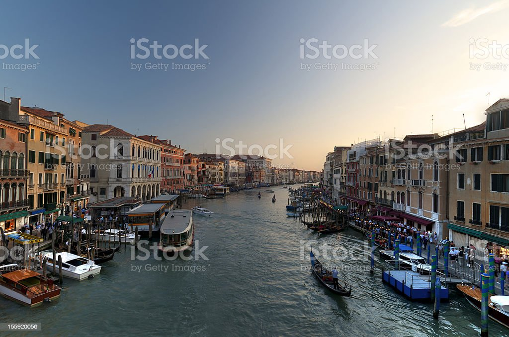 From Rialto Bridge,Venice royalty-free stock photo