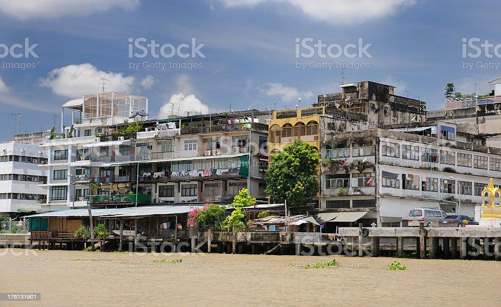 From Rich to Slums, Bangkok, Thailand (XXXL) stock photo