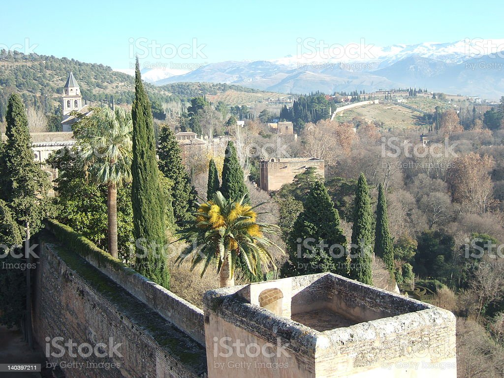 From the Alcazaba stock photo