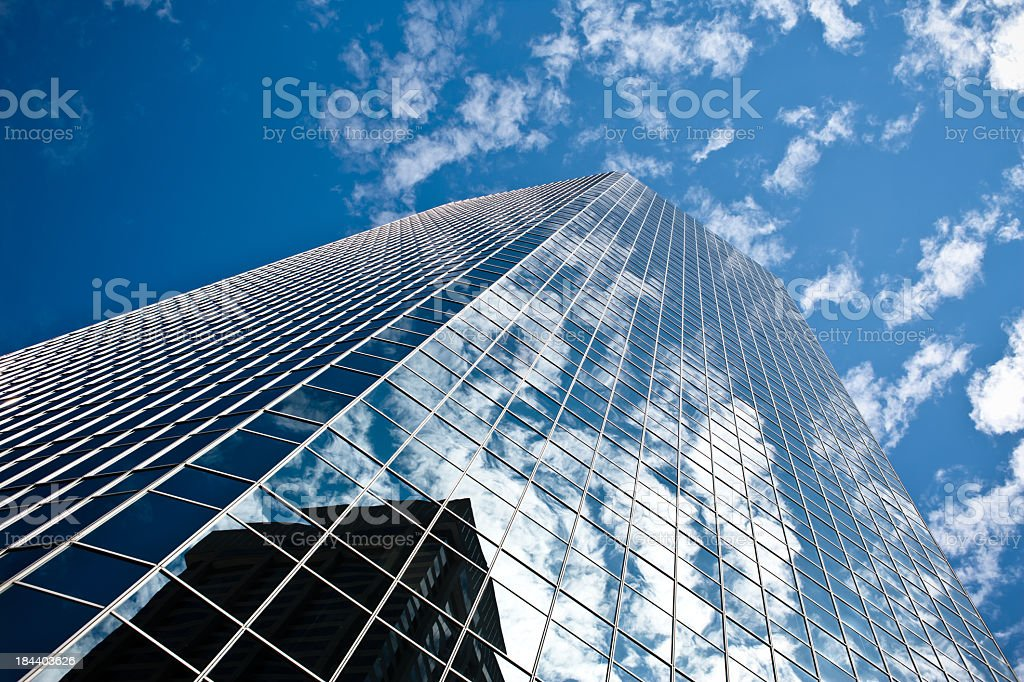 From the ground up view of reflective Toronto skyscraper stock photo