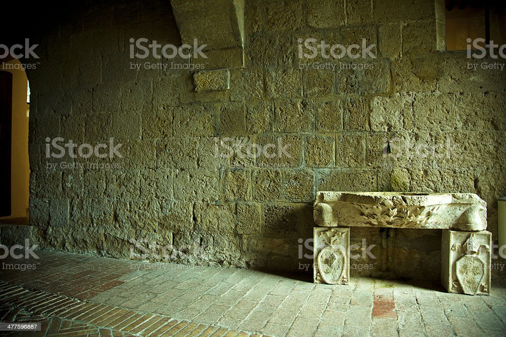 From the Sovana, Cathedral. Italy stock photo