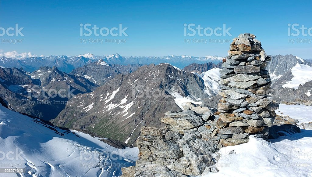 From the summit of Tete Blanche stock photo