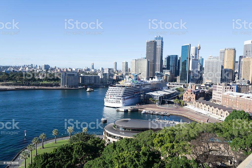 CBD from the Sydney Harbour bridge stock photo