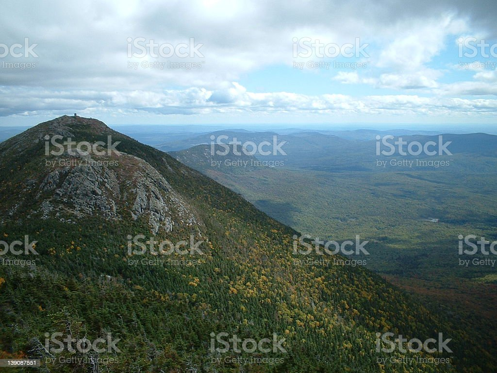 From the top of Bigelow Mtn stock photo