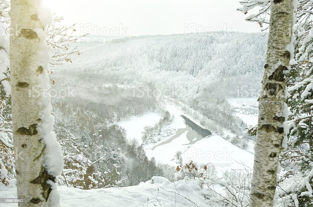from the top of mountain in winter royalty-free stock photo