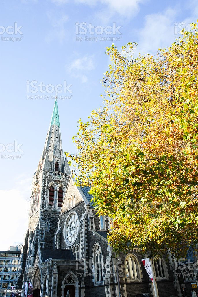 Fromer Christchurch Cathedral,New Zealand stock photo