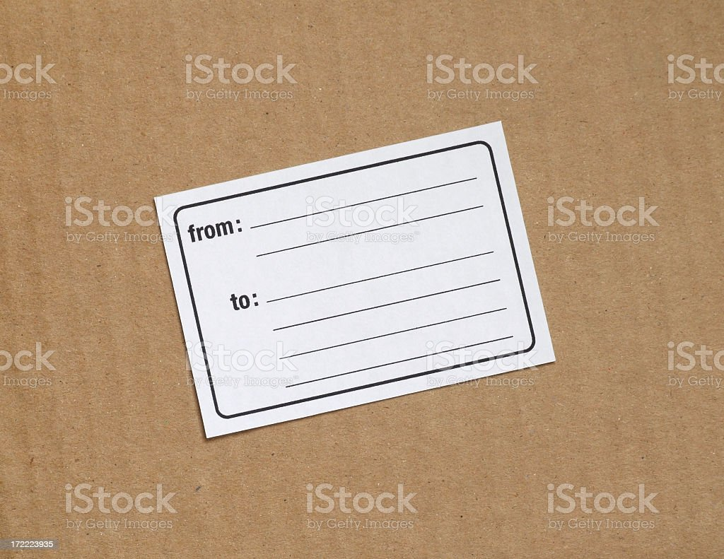 From/To Label stock photo