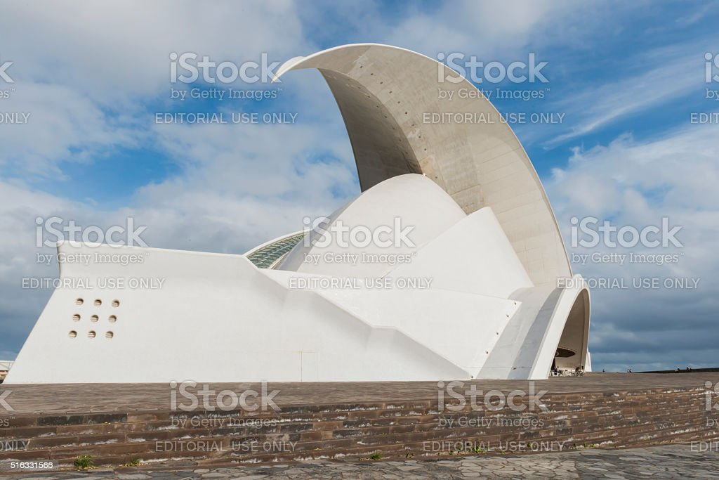 Front and side face of Concert Hall Oratorium stock photo