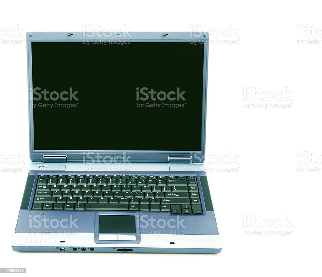 Front Blank Laptop royalty-free stock photo