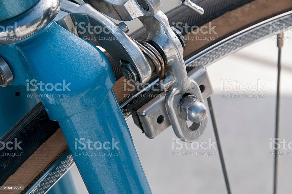 Front brake - old bicycle stock photo