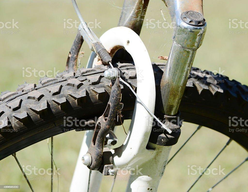 Front caliper brake,bicyle stock photo