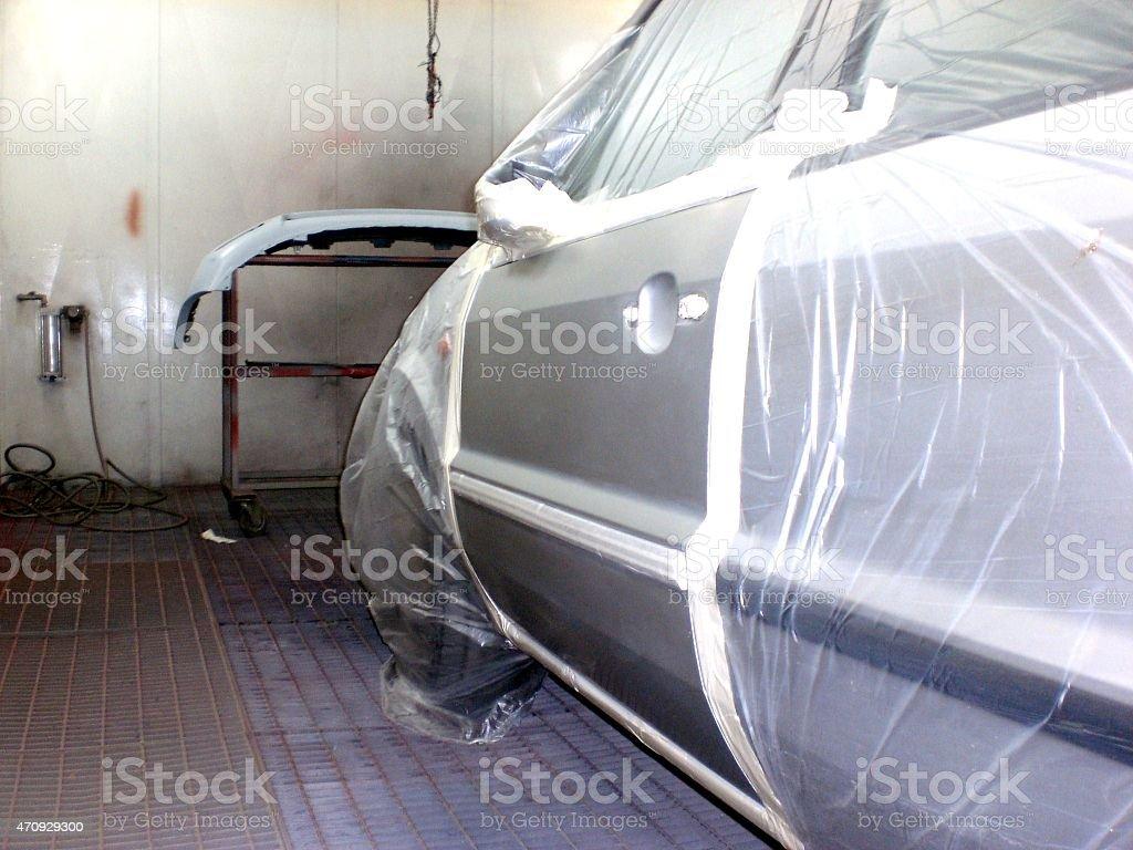 Front car door paint stock photo