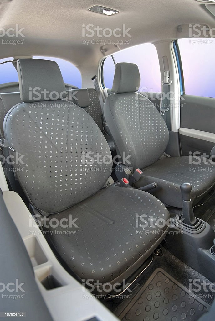 Front car seats royalty-free stock photo