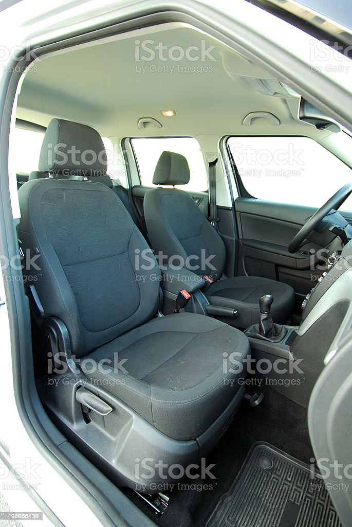 Front car seats stock photo