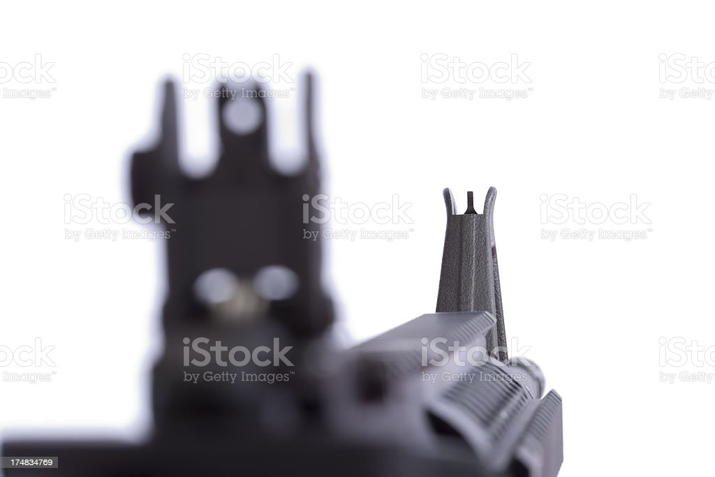 AR-15 Front Combat Sight royalty-free stock photo