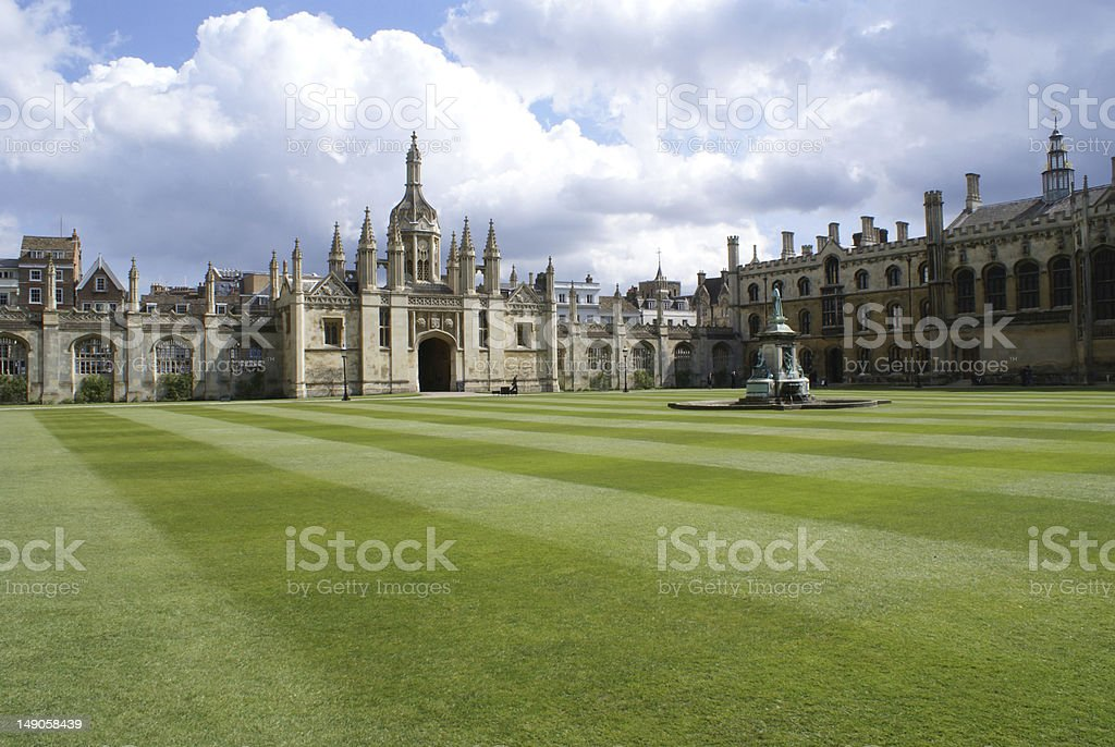 Front Court of  King's College, Cambridge royalty-free stock photo