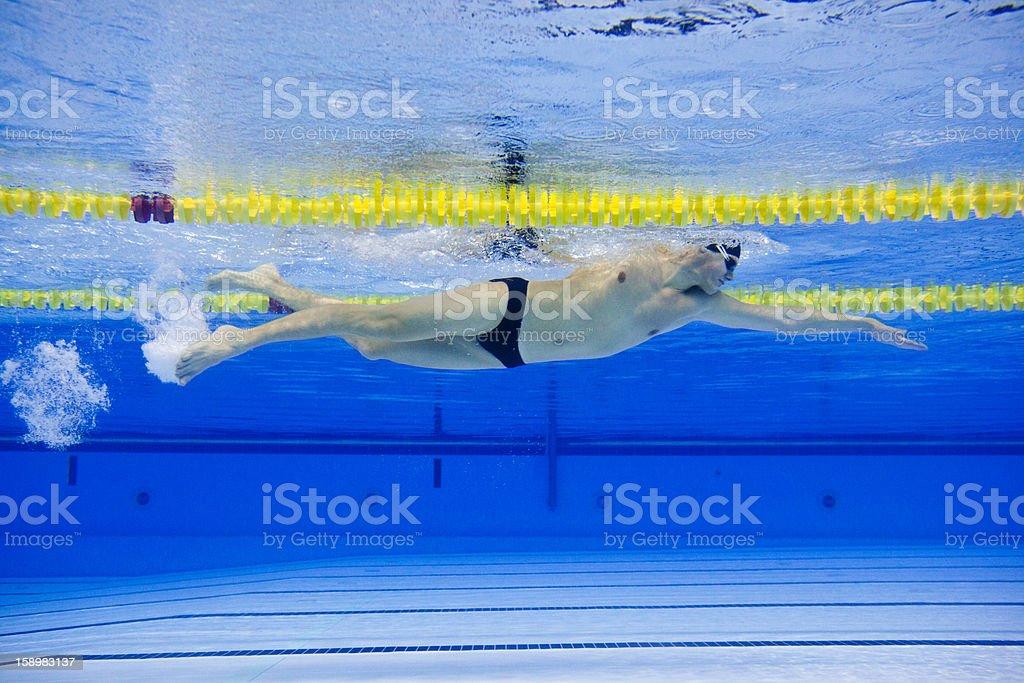 Front crawl swimmer stock photo