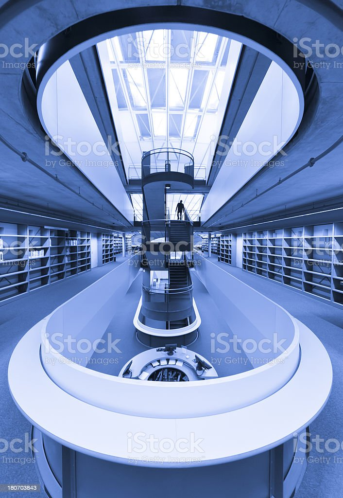front desk at modern library stock photo