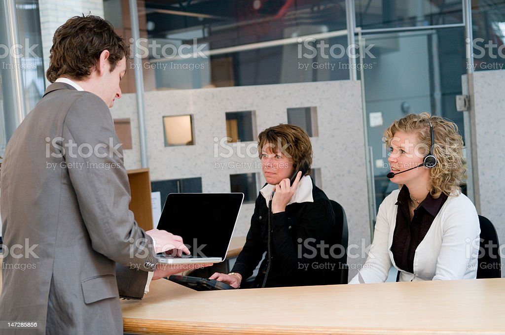 Front desk stock photo
