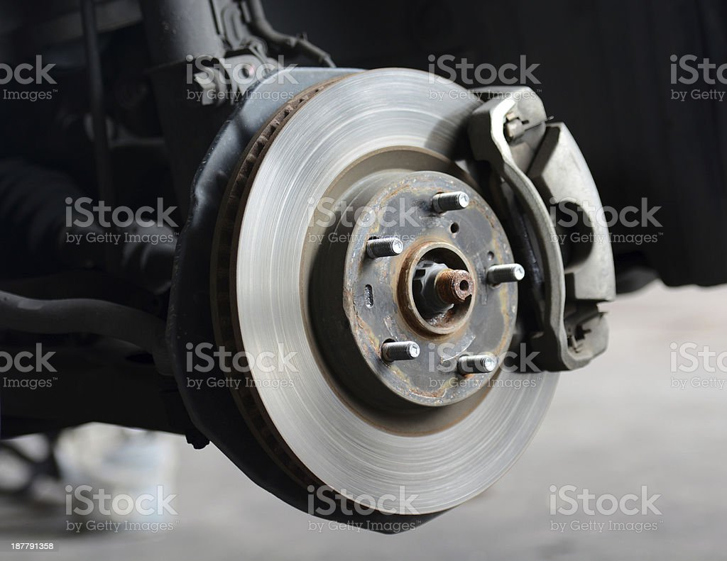 Front Disc Brakes with caliper stock photo