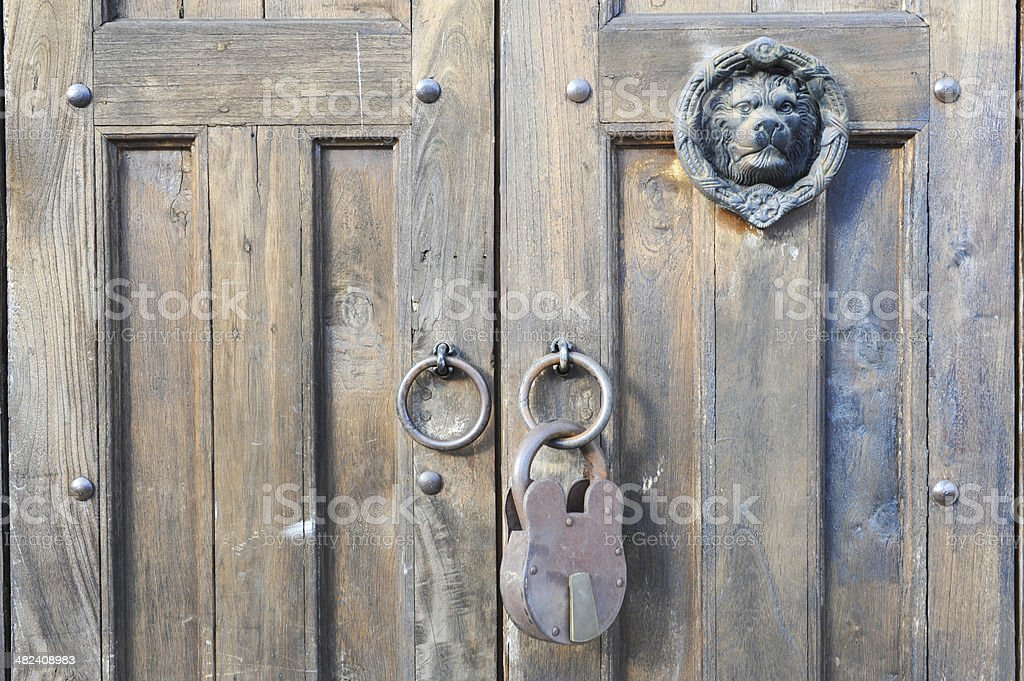 Front door at Suchitoto stock photo