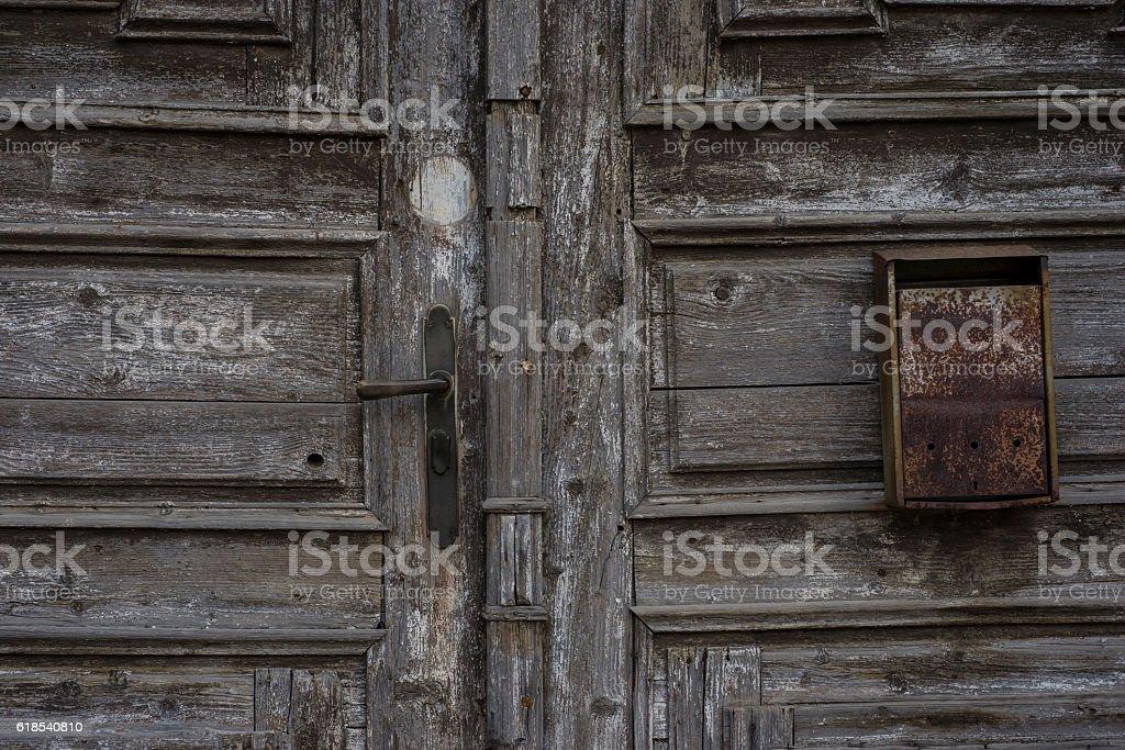 Front door detail stock photo
