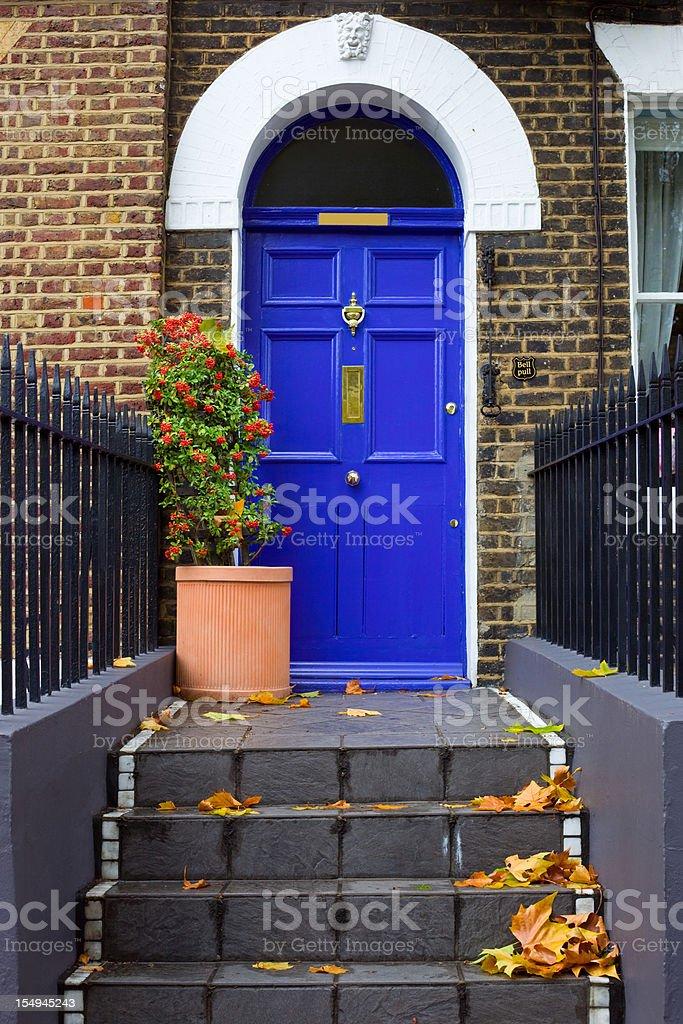 Front Door, Entrance, London, England stock photo