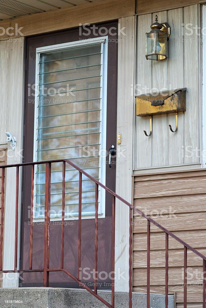 Front door of home royalty-free stock photo