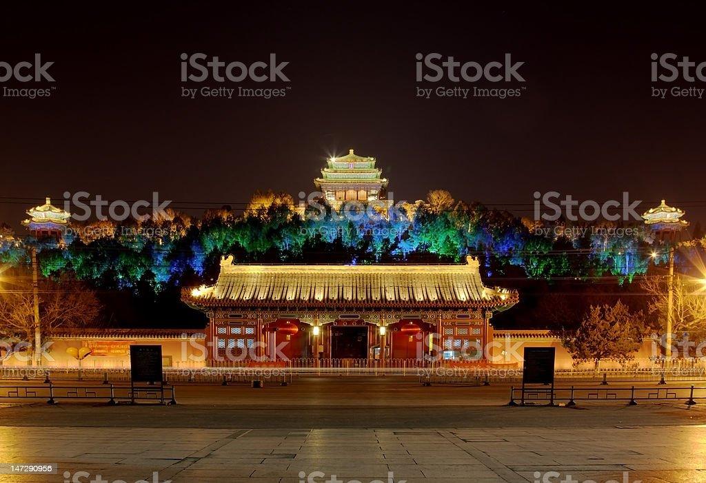 Front door of Jingshan Part stock photo