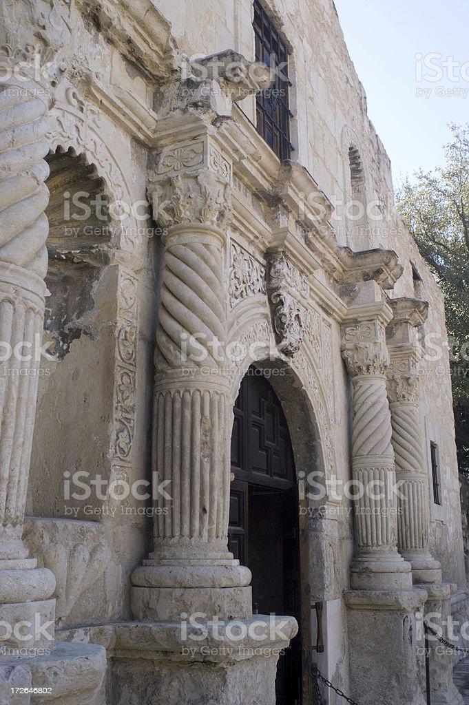 Front Door of The Alamo stock photo