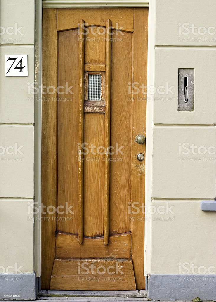Front door royalty-free stock photo