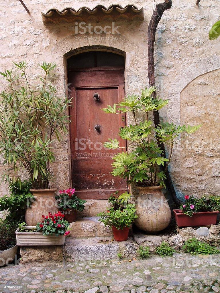 Przednie drzwi scena zbiór zdjęć royalty-free