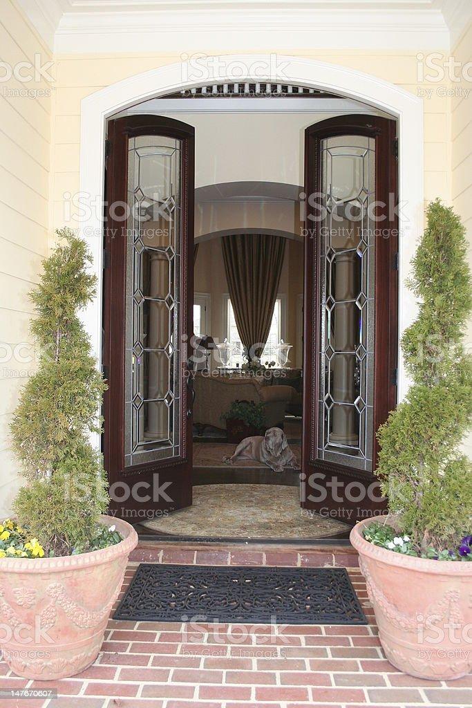 Front Doorway stock photo
