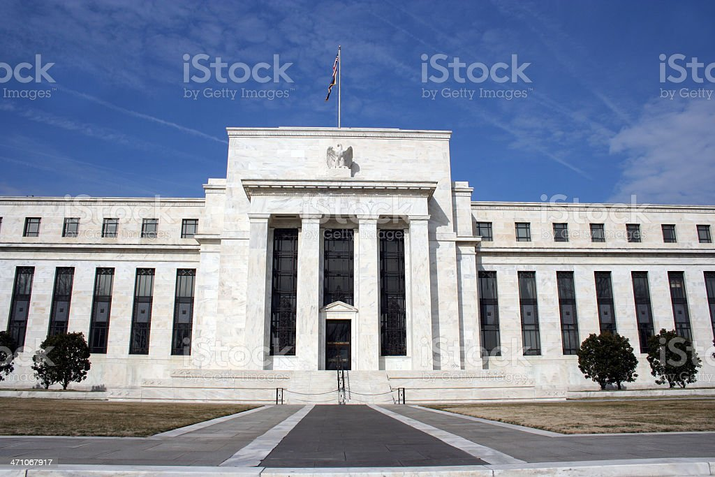 Front Elevation of the 'Fed' stock photo
